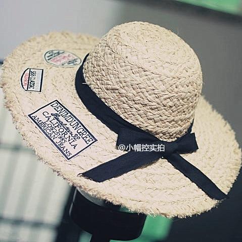 Nueva Summer Casual Rafia Sombrero De Paja de Ala Grande de Las Mujeres SCCDS-050 Playa Sunbonnet Femenino Del Envío Libre