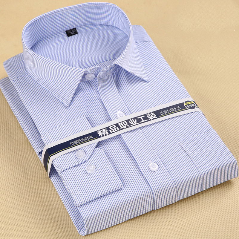 The Newest Recommend S To 8xl Plus Simple Style Business Men's Plaid/striped Dress Shirts Long Sleeve Turndown Collar Easy Care