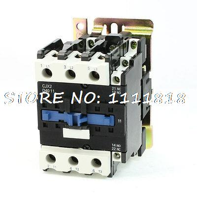 Motor Control AC Contactor AC-3 32KW 60A 3 Pole 24V Coil CJX2-4011 motor control ac contactor ac 3 37kw 80a 3p 3 pole 110v 120v coil