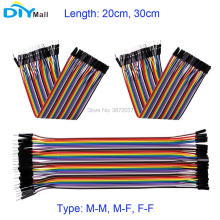 40Pin 2.54mm 20cm 30cm Jumper Breadboard Wire Dupont Cable Male to Male M-M Male to Female M-F Female to Female F-F for Arduino