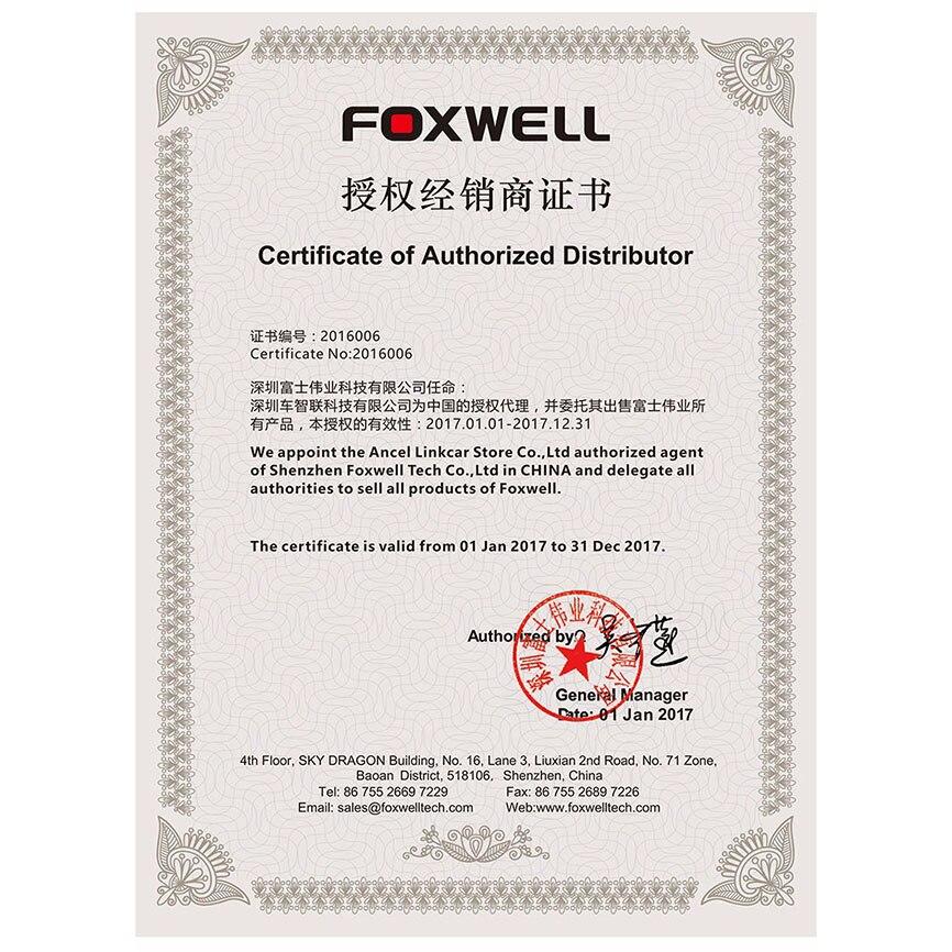 Цена за Foxwell код программного обеспечения за обслуживание