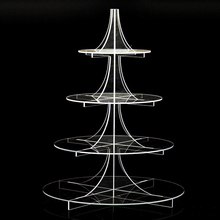 4 Layers Transparent Cake Stand Rack Display Birthday Party Wedding Cake Holder Cupcake Stands Kitchen Cake Decoration Tools hot assemble and disassemble cake holder round acrylic 3 4 tier cupcake cake stand decorating birthday tools party stands