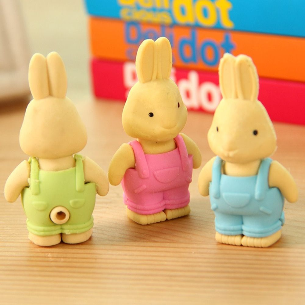 New Novelty Cartoon Simulation Lapin Mini Eraser Rubber Office And Study Eraser Kids Gift Creative  Stationery Novelty Item