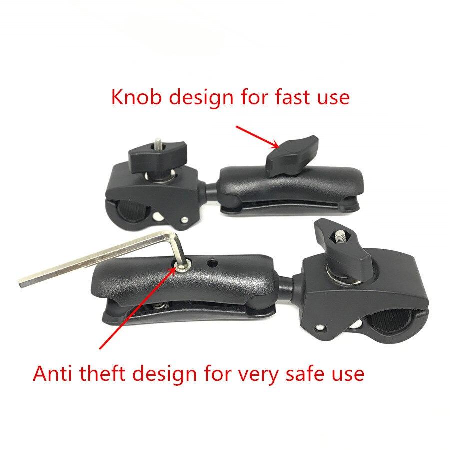 For Gopro Ram mount SLR 1 inch Double Socket Arm (12)