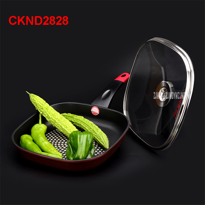 General Family Aluminum Alloy / Thickening / No Coating / Non-Stick / No Oil Smoke / Anti-skid Anti-Heat Handle 28CM frying pan