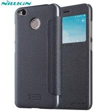 Nillkin Sparkle Роскошный кожаный чехол для Xiaomi Redmi 4X откидная крышка для Xiaomi Redmi 4X Жесткий случаях умное окно