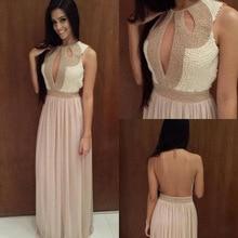 Als Bild O-ansatz A-line Perlen Bodenlangen Ärmel Sexy Brautkleider 2014 Neue Ankunft Chiffon Elegante Abendkleider