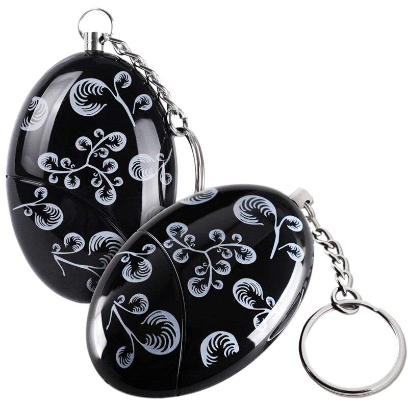 2 Pack 120 DB SOS Emergency Personal Alarm Keychain Self Defense For Elderly Kids Women Adventurer Night Workers Anti-theft Al