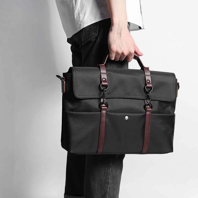 5d85f06a0c31 D-park портативный KUMON водонепроницаемый портфель для ноутбука модные  сумки для деловых людей сумка через