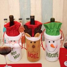 Рождество бутылки вина Декор набор Кухня украшение для год Рождественский ужин вечерние