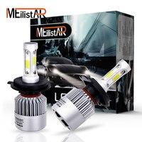 Meilistar 2Pcs LED H4 12V 72W 6500K 8000LM Halogen Replacement Hi Lo Beam Vehicle Driving Fog