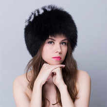 28d67fed07c Real Fur Hats For Women Winter Womens Fur Russian Hat And Caps Round Tops  Fur For Girls Natural New Bombers Russia Hats