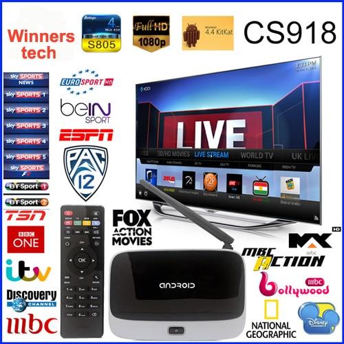 ФОТО TV Box CS918 Live Streaming Channel Q7 MK888 Quad Core Android TV Box Rockchip 3188 Cortex A9 Smart TV Box HD 1080P IPTV Box