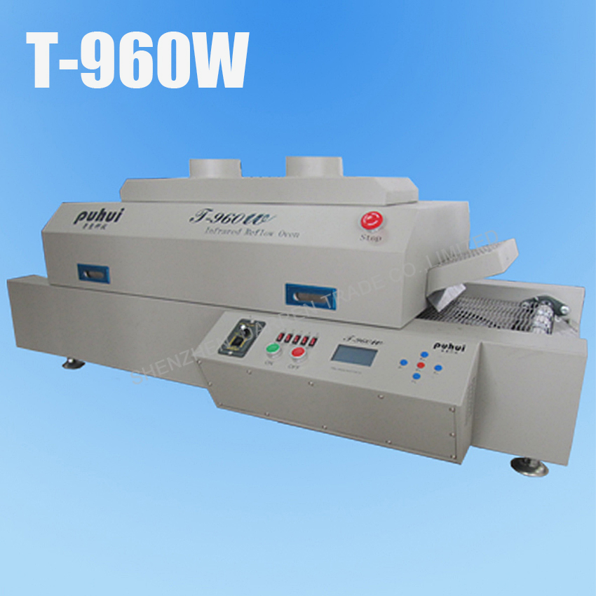 Five channel temperature reflow machine T 960W 4 5 KW 0 1500mm min Single reflow soldering