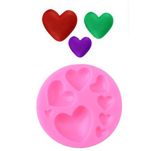 TTLIFE Love Heart Shape Silicone Mold Pastry Chocolate Cupcake Kitchen Baking Mould Soap Cookies Fondant Cake Decorating Tool