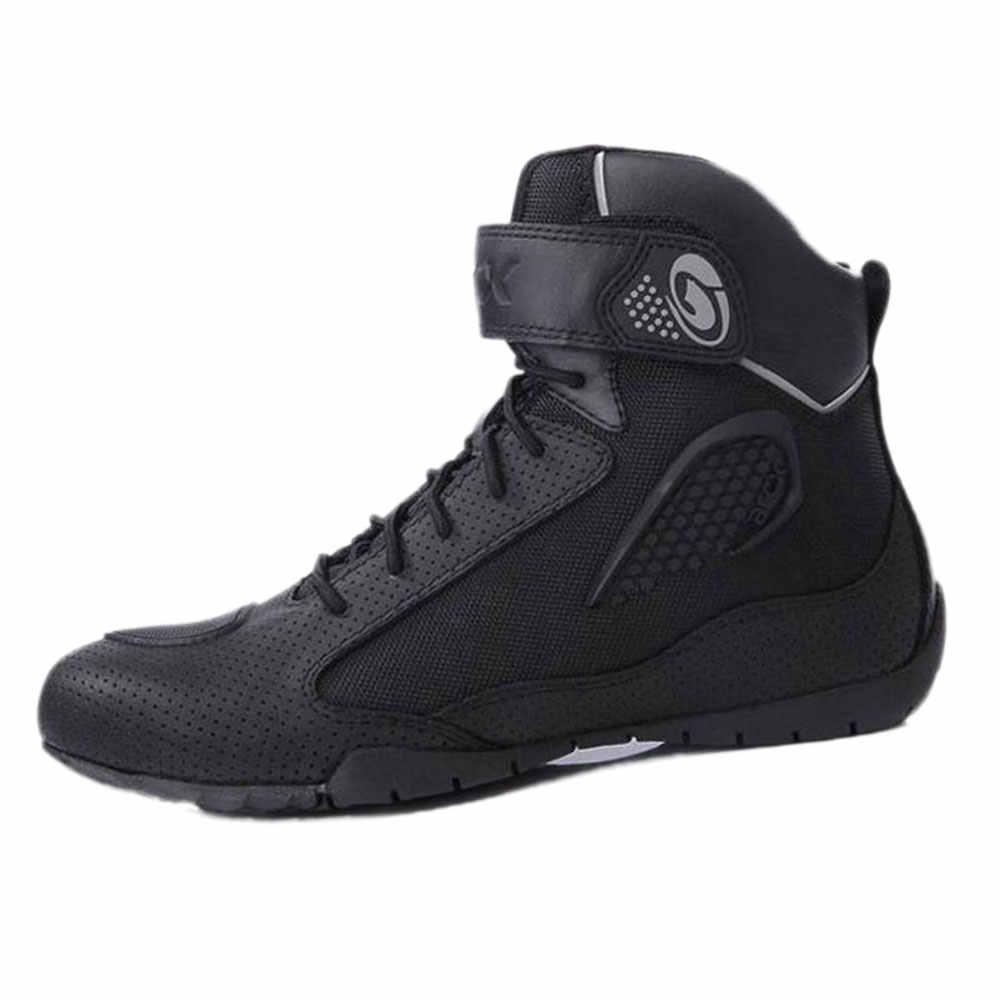 ARCX Moto bottes hommes Moto bottes d'équitation respirant Moto chaussures Moto motard Chopper Cruiser Touring cheville chaussures #