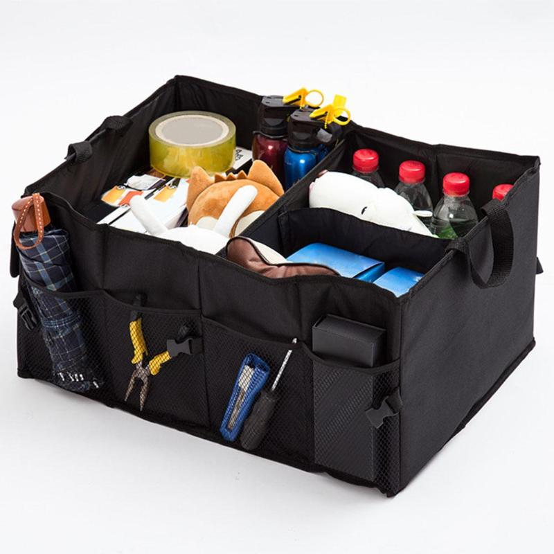 Car Storage Box Waterproof Folding Container Case Multifunction Car Styling Trunk Bag Auto Interior Storage Organizer Container car trunk storage bag oxford cloth folding truck storage box car trunk tidy bag organizer storage box with cooler bag