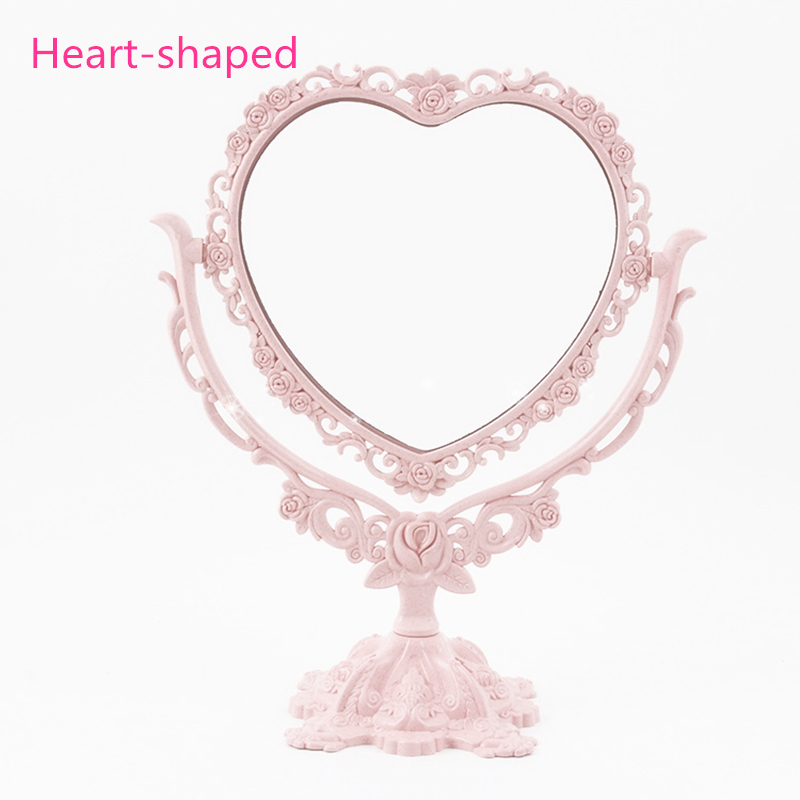 Makeup Mirror Desktop Rotatable Gothic Mirror Butterfly Rose Decor Beauty Tool HS11