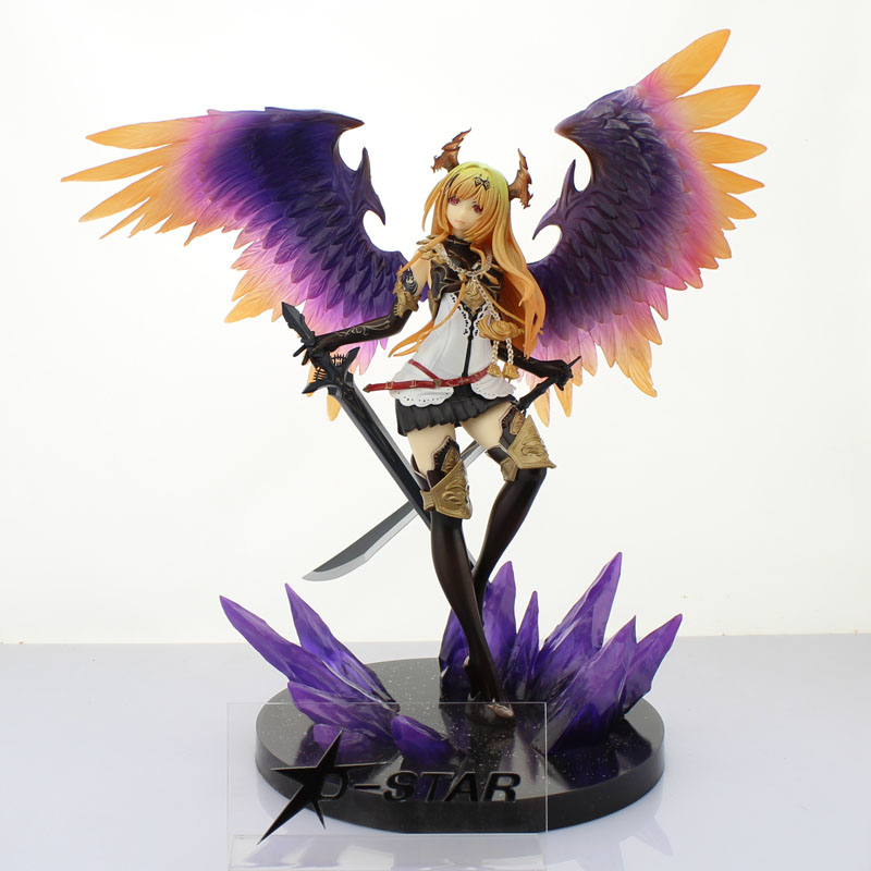 Free Shipping 11 Bahamut Anime Dark Angel Olivia 1/8 Scale 2 Color Boxed PVC Action Figure Collection Model Doll Toys Gift free shipping 7 anime super sonico with macaroon tower boxed 17cm pvc action figure collection model doll toy gift