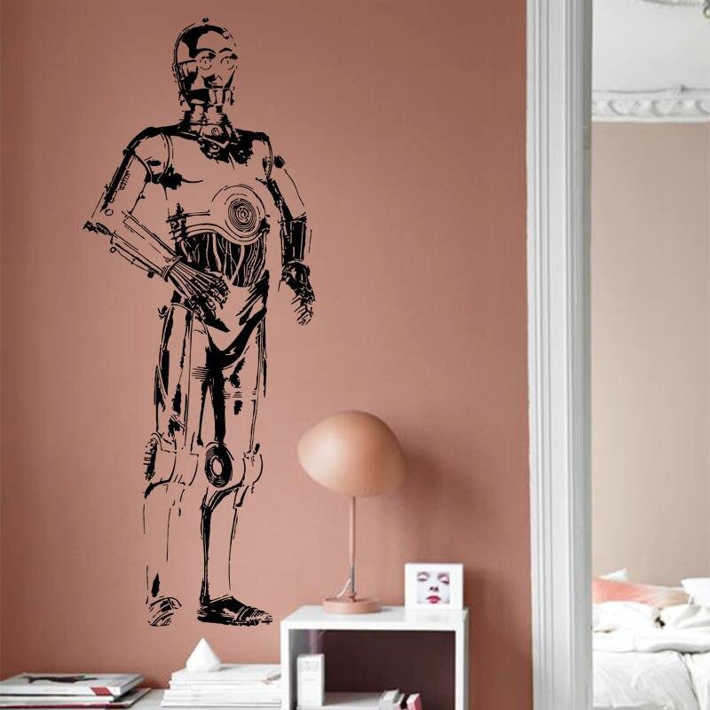 Diseño de arte barato decoración del hogar de Vinilo película de Star War C3PO s