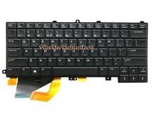 Reboto 원래 브랜드의 새로운 노트북 키보드 dell alienware 14 미국 레이아웃 키보드 백라이트 NSK LB0BC 0 ffgjw 100% 테스트 됨