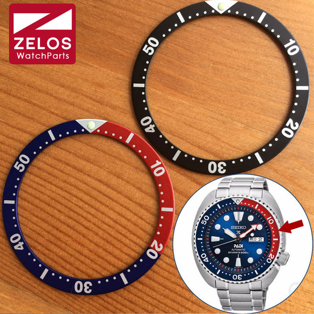 Luminous Luminous watch pepsi bezels inserts loop for Seiko Diver Prospex  GMT man lady watch parts blue red black c3a951d6fc