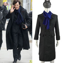 BFJ Cosplay Tv Sherlock Holmes Costume Coat Wool Long Jacket Outfit With Scarf Free