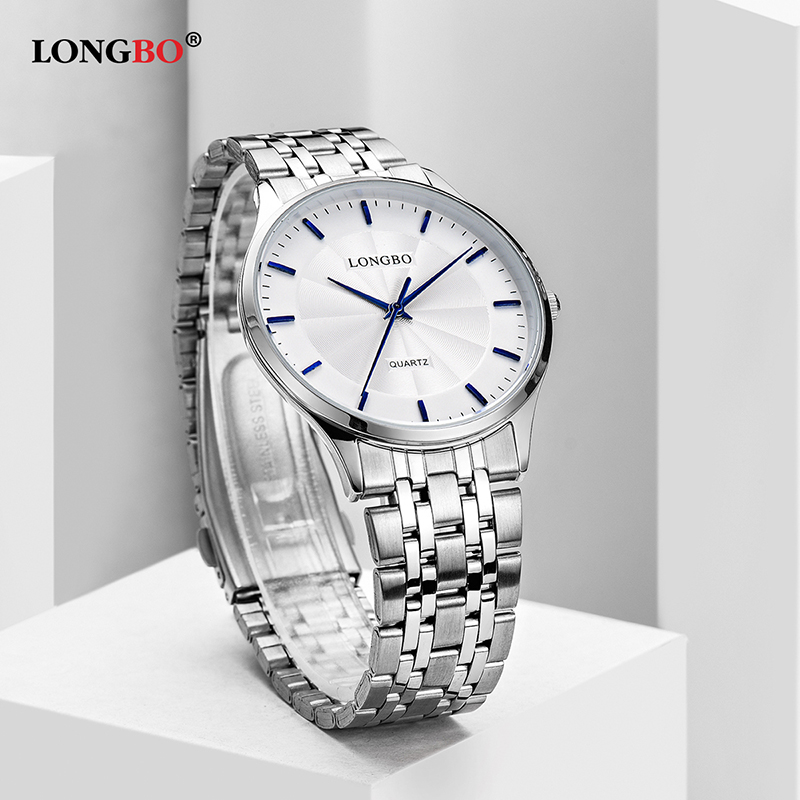 LONGBO Quartz Watch Lovers Watches Women Men Couple Analog Watches Leather Wristwatches Fashion Casual Watches Gold 1/pcs 80266