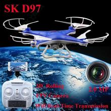 Free shipping!SHENGKAI D97 RC Quadcopter with WIFI FPV HD Camera 4CH 2.4GHz 6 Axis Drone Blue