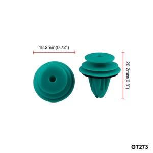 Image 2 - 25 Pcs Auto Fastener Hole Door Trim Panel Plastic Clips Rivets Retainer for Toyota 90467 10188 Car Fender Bumper Car Styling