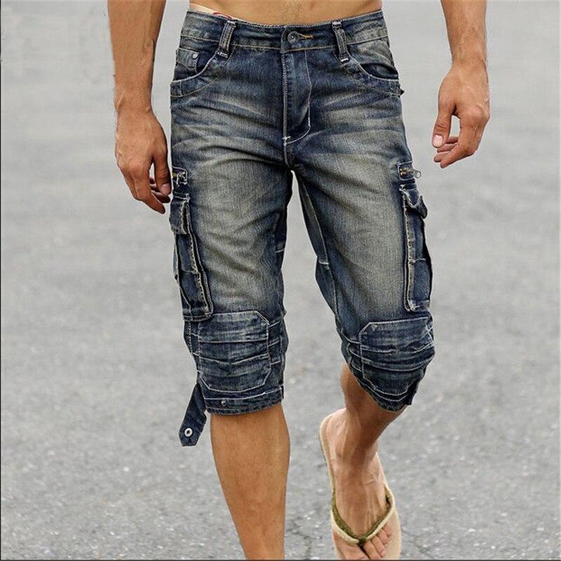 Popular Men's Denim Cargo Shorts-Buy Cheap Men's Denim ...