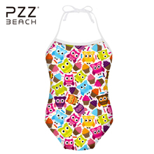 1cda2cdf9a7d2 3-8 Years Children's Swimwear Baby Kids Biquini Infantil Swimsuit Girls  Cartoon Print One Pieces