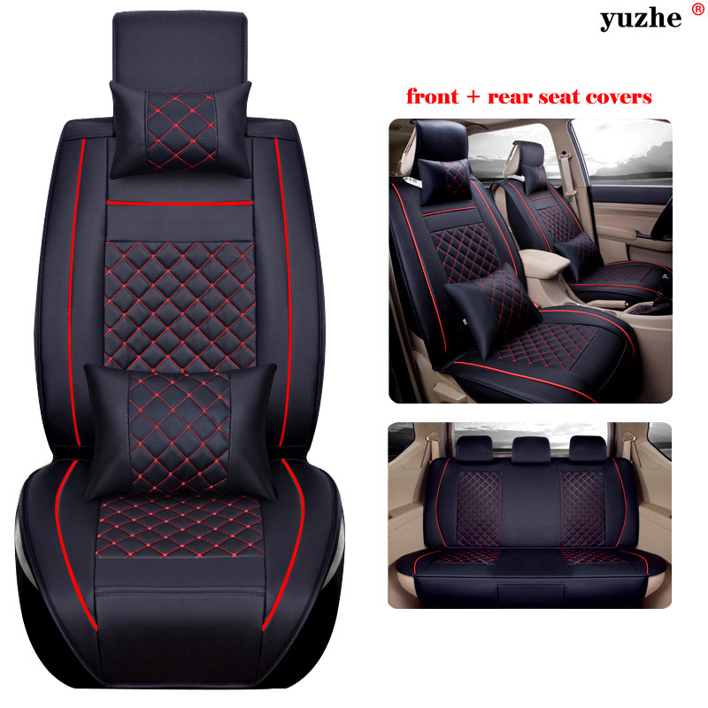 11 PCS SET Leather Car Seat Cover For Ford Mondeo Focus 2 3 Kuga Fiesta