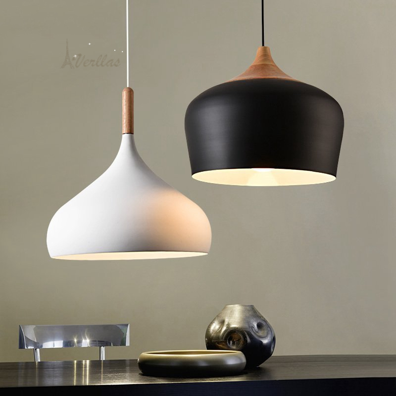A Nordic solid wood restaurant single head Pendant Light modern simple iron lamp creative personality simple wooden Pendant Lamp сабо weekend max mara weekend max mara we017aworc13