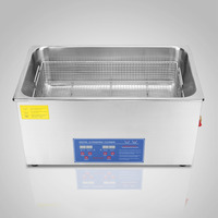 Ultrasonic Cleaner Machine New 30L Heater Timer Bracket Jewelry Cleaning 1400W Digital Stainless Steel Ultrasonic Cleaner
