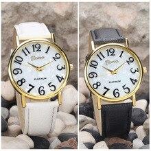 Новый 2018 Популярные Для женщин Повседневное часы женские кожаные роскошные часы Женская спортивная Кварцевые наручные часы простые женские часы черный
