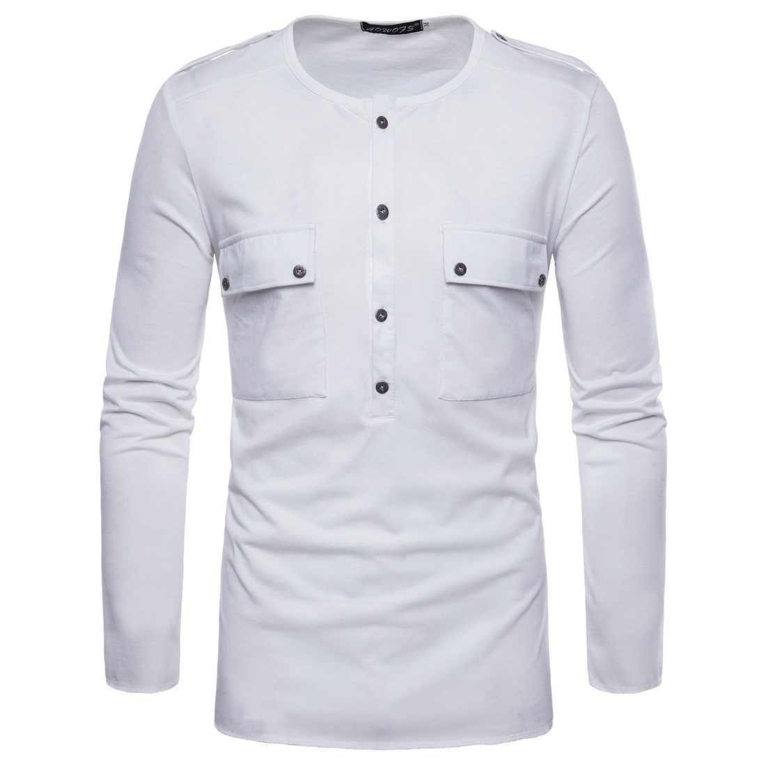 acb955e3 T Shirt Men Fashionable Menswear Spring New White O-neck Long Sleeve  Streetwear T-
