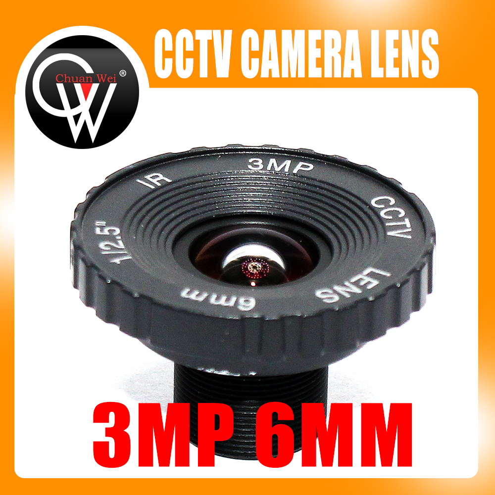 CCTV Lens 6mm 3MP 3 Megapixel MTV IR CCTV Lens HD camera M12 Mount For 720P /960P/ HD 1080P IP Camera 1 3mp single array leds c mount sony 600tvl lens ir cctv ccd hd waterproof camera