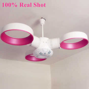 Creative Pendant Lights High-end Remote Control No Fan Blades Fan Ceiling Fans Lights With 12W LED Lights For Livingroom