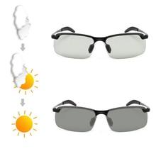 ARTORIGIN Polarized Photochromic Sunglasses Men Classic 3043 Semi-Rimless  Anti Glare Driving Glasses Change Color 3fdd15e255