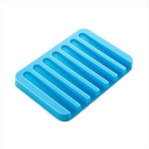 Image 5 - 주방 욕실에 대 한 1PC 안티 슬립 실리콘 비누 접시 접시 홀더 트레이 비누 상자