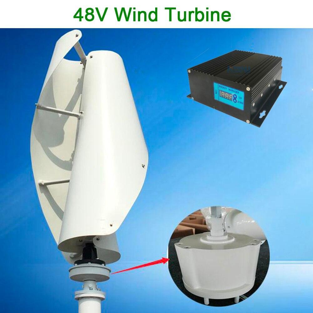 Éolienne à axe vertical Maglev 48 v avec contrôleur 48 V MPPT pour un usage domestique