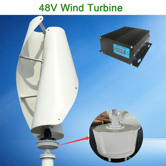 Maglev wind turbine 48v vertical axis wind generator with 48V MPPT controller for home use