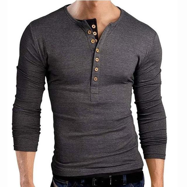 T shirt Unique hommes marque simple boutonnage