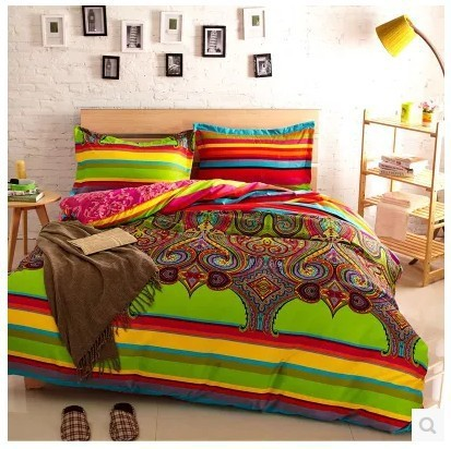 Turkish Striped Bedsheets Bedding Sets Queen Size Duvet Cover Bedspread Bed Designer Sheet Bedroom Quilt Linen Bedsheet