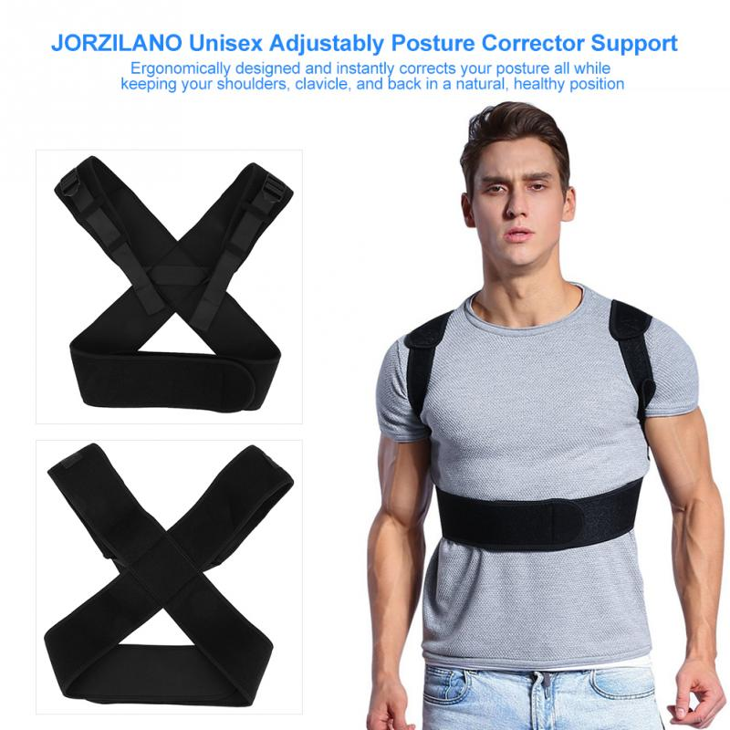 Clavicle Back Corset Adjustable Posture X Shape Adjustably Posture Corrector Support Brace Shoulder Support Belt for Men Women