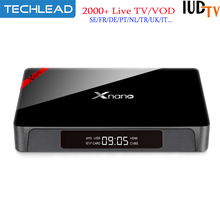 Xnano X96 Pro Android TV Box 1G 8G S905X With 1 Year IUDTV Sweden IPTV Channels French Italian Dutch Portugal UK USA Live TV M3U(China)