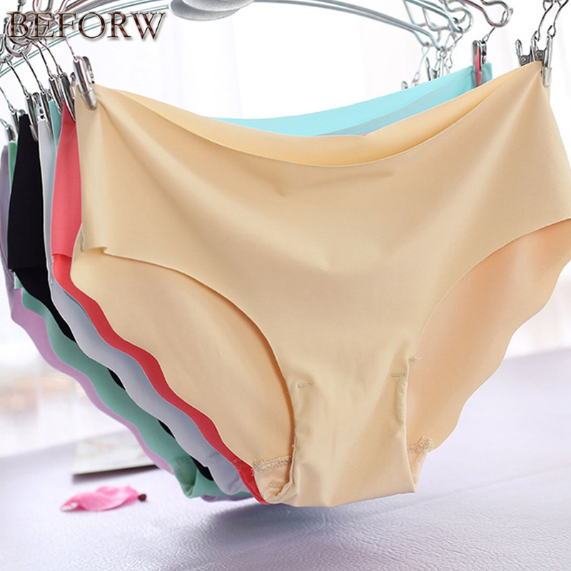 High Quality Panties Big Size Underwear Women Briefs Smooth Seamless Sexy Panties 7 Soli ...