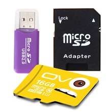 Real Capacity Memory Card 16GB Class 10 Micro SD Card Pass Free Adapter Reader