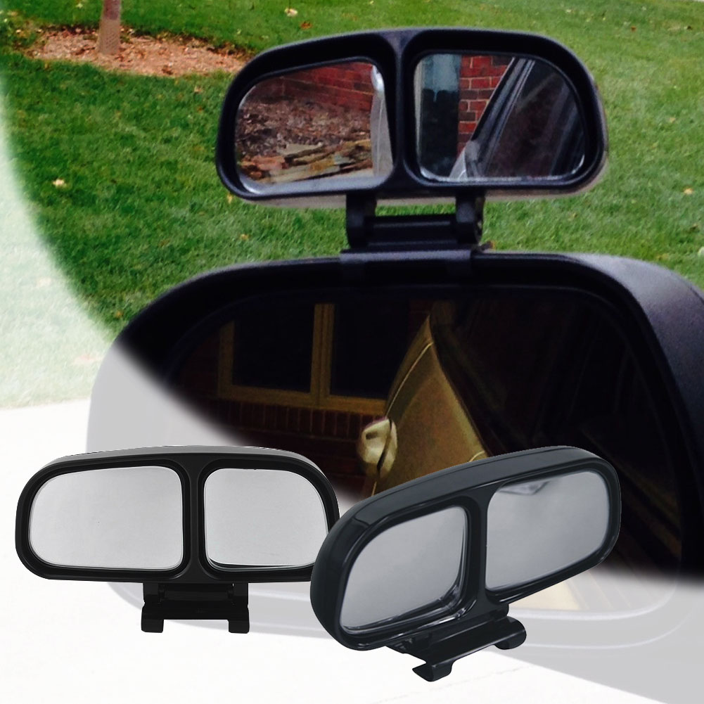 Car styling blind spot mirror left side rear view 360 degrees adjustable dual mirrors wide angle
